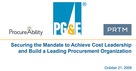 Securing the Mandate to Achieve Cost Leadership and Build a Leading Procurement Organization